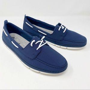 🌈NIB Clarks Step Maro Sand Slip On Boat Shoes